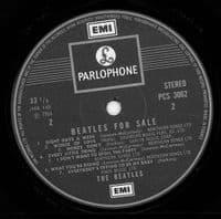 THE BEATLES Beatles For Sale Vinyl Record LP Parlophone 1974